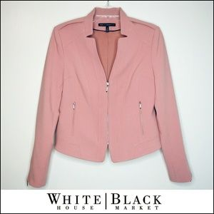 WHBM Mauve Dusty Pink Biker Style Blazer Jacket